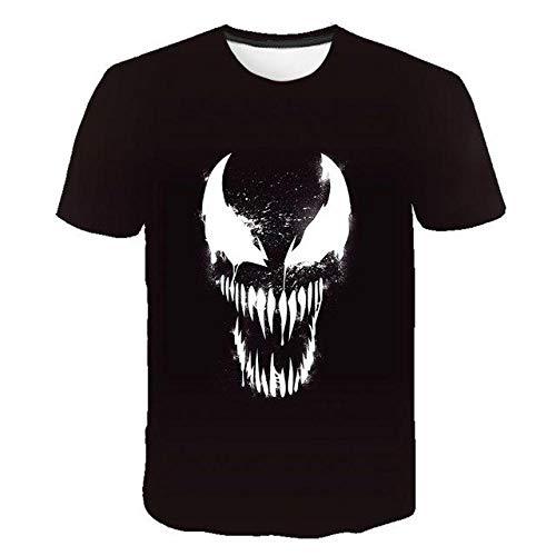 Venom Camiseta con Estampado 3D para Hombres Y Mujeres Camiseta De Manga Corta De Anime De Dibujos Animados Camiseta De Calle Hip-Hop-A315_XL Patrón De Frente = Patrón De Espalda