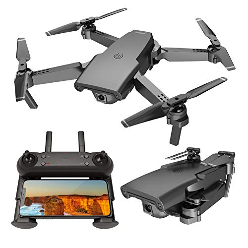 LYHLYH GPS Drone avec caméra pour Adultes 4K HD Vidéo en Direct, Pliable Drone pour Les débutants, Les Petits Avions de la télécommande Intelligente Suivez Le Mode Headless