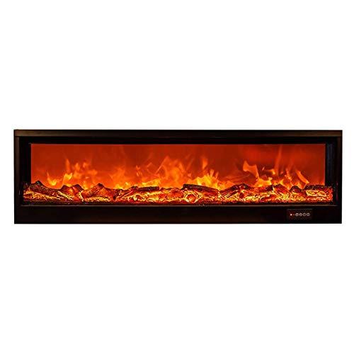DGYAXIN Montaje en Pared para Chimenea eléctrica, Calentador de Estufa Empotrado, Efecto Decorativo de Llama ardiente, Control Remoto, Temporizador Ajustable, para Oficina en casa