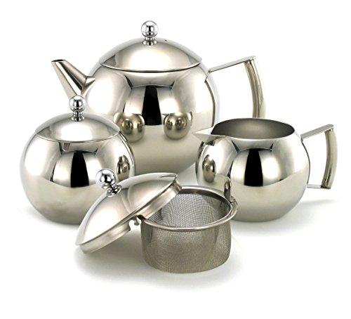 Franquihogar OVADA 3-delige thee- en koffieset: thee- / koffiepot, roomkannetje en suikerpot