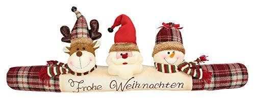 FRANK FLECHTWAREN Zugluftstopper Weihnachtsfreunde