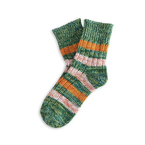 THUNDERS LOVE | Unisex Socks | Size 36-39 | Island Model | 'Brooklyn' | Green Socks | Cotton Socks | Ecological Socks | Recycled Cotton 90prozent | Soft Padded Ribbed Fabric | Comfort
