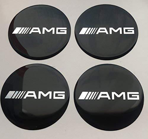 AMG ★4 Stück★65mm Aufkleber Emblem für Felgen Nabendeckel Radkappen