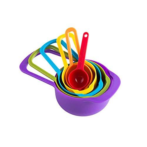 LLS ABS anidadas cucharas de medición de Colores, 6 Piezas cucharadita Medida de cucharas de harina Comestible Polvo del Aceite de Kitchen Aid Pasta 0507