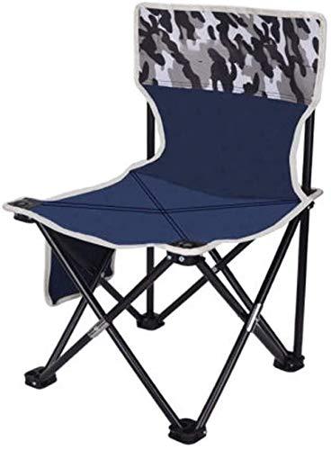 LIjiMY Silla de Camping al Aire Libre Compacto Sillas Plegables portátiles con Bolsillos Laterales para Llevar Bolsa de Acero de Servicio Pesado Plegable para césped de Pesca en la Playa