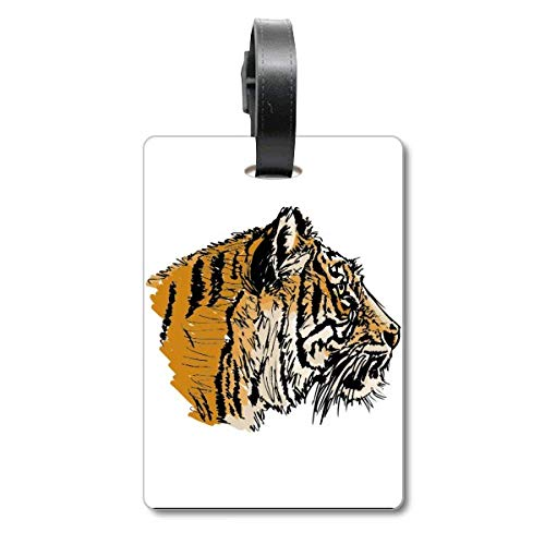 Tiger Head Close-up King Animal Wild Maleta Bolsa Etiqueta de equipaje para colgar
