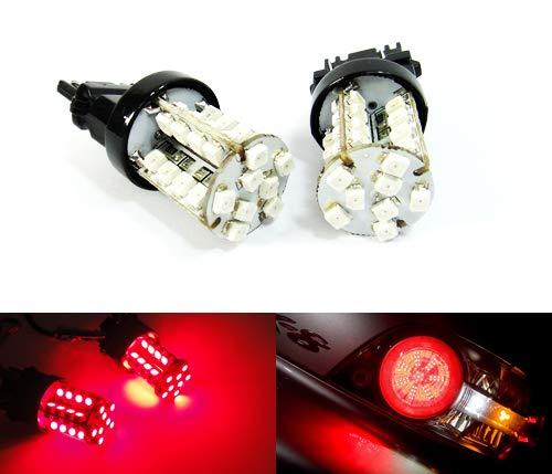 2 x luces de freno de luz antiniebla trasera, color rojo, 182 P27W 180 P27/7W PR27/7W cuña bombilla 40 LED lateral indicador de luz lateral lateral lateral