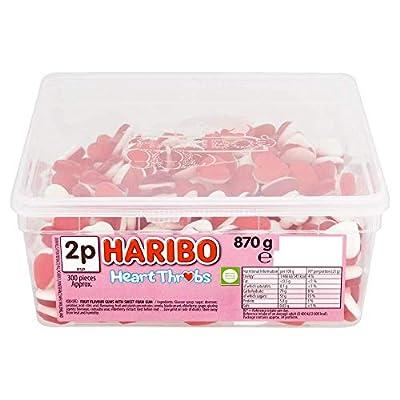 haribo hearts heart throb sweets, bulk tub sweets, 870g Haribo Hearts Heart Throb Sweets, bulk tub sweets, 870g 41Oq736jX1L