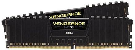 Corsair Vengeance LPX 16GB (2x8GB) DDR4 DRAM 2400MHz C16 Desktop Memory Kit - Black (CMK16GX4M2A2400C16)
