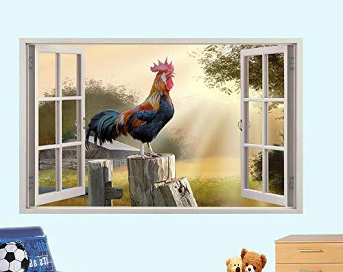 Adesivi Murali'adesivo murale Stanza di registrazione sull'adesivo sulla parete della finestra della fattoria, decalcomania murale per interni' 80 * 120CM