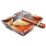 LAHappy Cenicero de Cigarro Cenicero Cristal Vidrio, Fácil de Limpiar, Cenicero Decorativo para Uso en Interiores o Exteriores