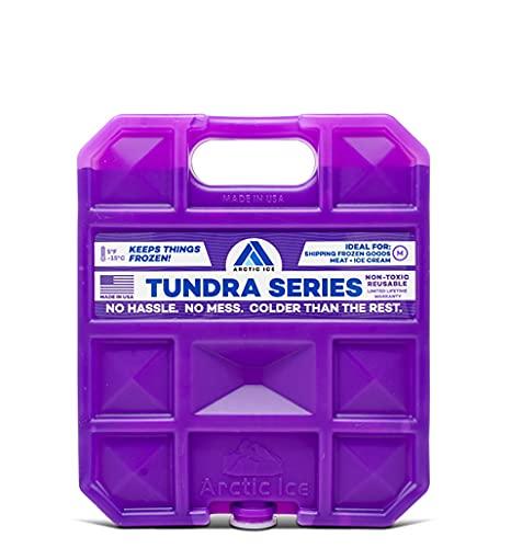 ARCTIC ICE Tundra Series, Long Lasting Reusable Ice Pack, Purple,...