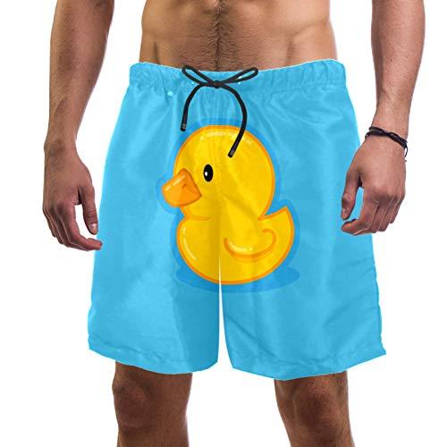 Haminaya Badehose Herren Ente Swim Trunks Schnelltrocknend Badeshorts Drucken Swim Shorts Mit Kordelzug Für Boot Strand Schwimmbad XXL