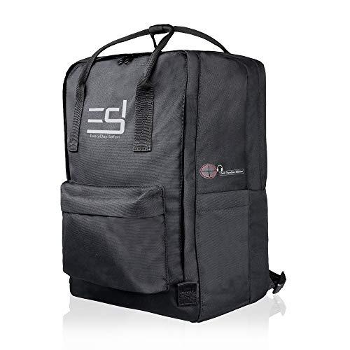 EDS Sommer Rucksack Damen Mädchen schwarz mit Laptopfach Handgepäck 40 x 25 x 20 cm Daypack Tagesrucksack Wanderrucksack City Basic Laptoprucksack, Laptoptasche Freizeit leicht wasserabweisend