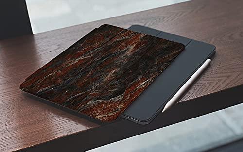 MEMETARO Funda para iPad (9,7 Pulgadas 2018/2017 Modelo), Naturaleza Ónix Hermoso Rojo Negro Blanco Mármol Interiores Abstractos Arquitectura Smart Leather Stand Cover with Auto Wake/Sleep