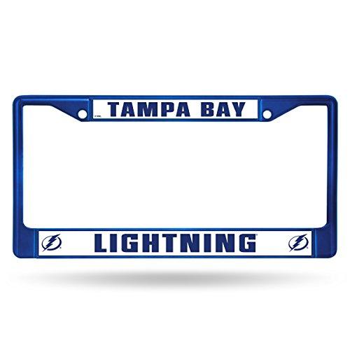 NHL Rico Industries Standard Chrome License Plate Frame, Tampa Bay Lightning