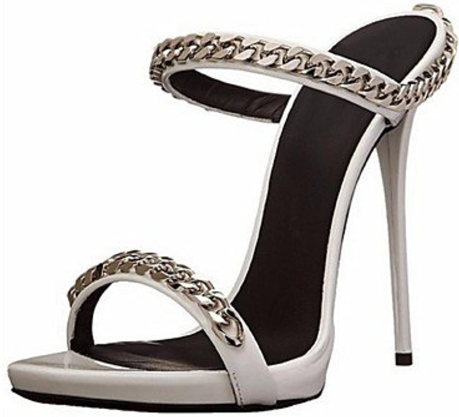 Women's Spring Summer Fall Leatherette Office & Career Dress Party & Evening Stiletto Heel Silver
