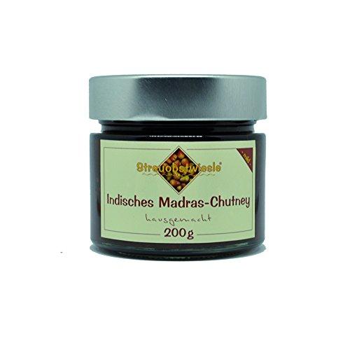Streuobstwiesle Indisches Madras Chutney - 200 g - Herzhafte, handgerührte, aromatische Sauce aus Deutschland zum Grillen, zum Fondue, zum Raclette, zum Kase, zum Reis.