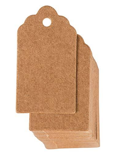 Juvale Etiquetas de regalo – etiquetas de papel kraft, etiquetas de mercancía, etiquetas para escribir, etiquetas para colgar manualidades, para bodas, 1000 Pack, 0.95 x 1.75 Inch, Kraft marrón
