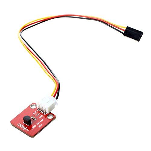 Andifany LM35 LM35DZ Modulo de Sensor termico del Temperatura 0-100 Grados Celsius - rojo