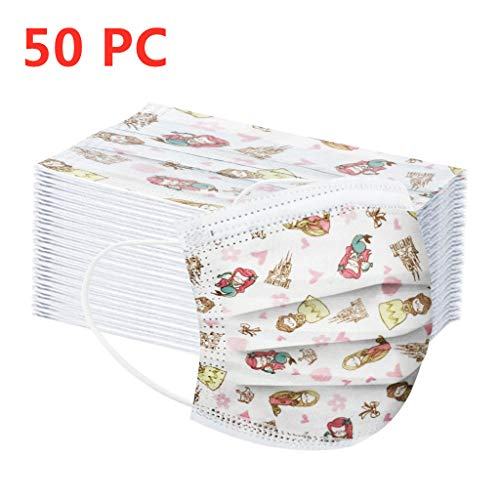 MaNMaNing Niñas Protección 3 Capas Transpirables con Elástico para Los Oídos Pack 10-50 unidades 20200714-MaNMaN-AC04 (50)