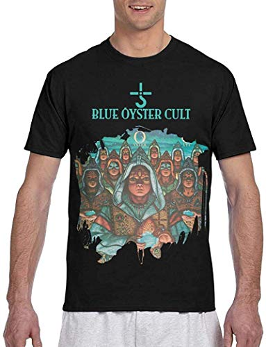 Mens Blue Oyster Cult Fire of Unknown Origin 3D Printed Short Sleeve T Shirt Black