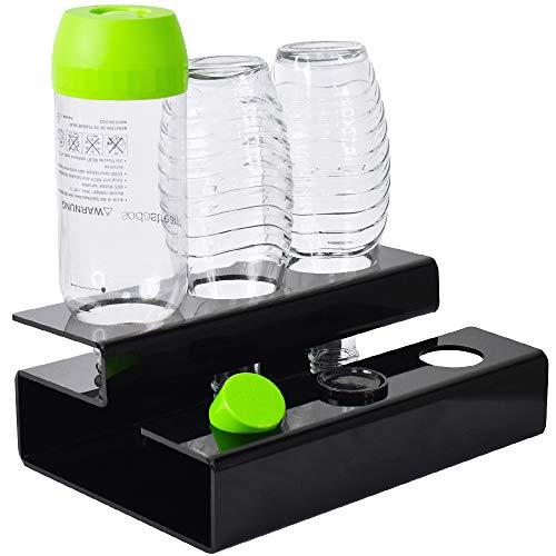 Annvchi Sodastream Flaschenhalter, Soda Stream Glasflaschen Der Neue Ablauf Flaschenhalter AbflussstäNder FüR Kristallglasflaschen, Hergestellt aus Hochwertigem Acrylglas Material