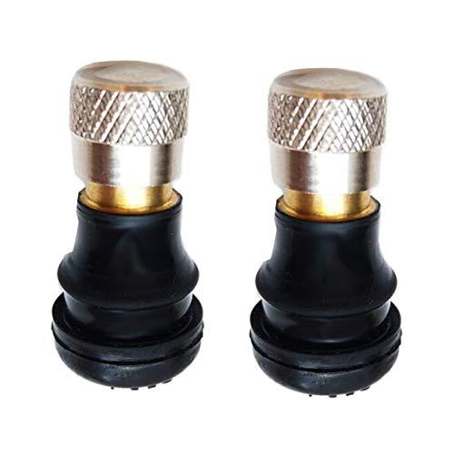 Dhmm123 Válvulas 1/2 unids Válvula de vacío de Scooter Válvula de Rueda de neumático sin Tubo para MA-X G30 XI-AO-MI MI-JIA M365 M365 Pro Accesorios de Scooter eléctrico (Color : 2PCS)