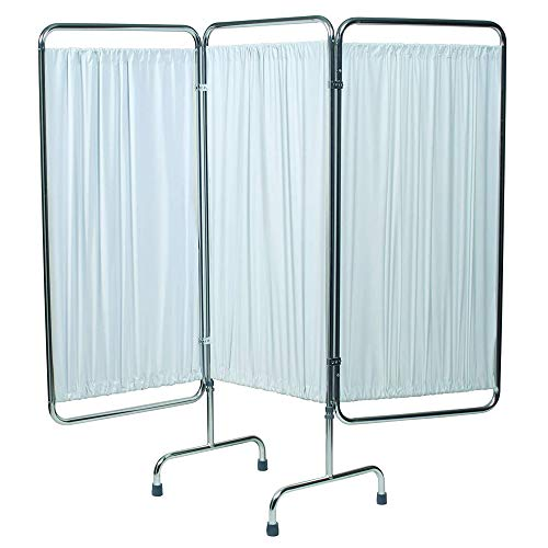 Lumex 3-Panel Privacy Screen with Adjustable and Foldable Design, White, 49' x 31', 4296W