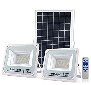 JOYWAY-Blue carbon 400W LED Solar Flood Light (200w+200w) Dual Lamp Double Light Tri colors Outdoor Waterproof IP67 with R...