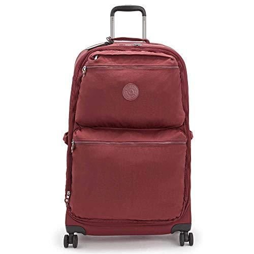 KIPLING UPRIGHT CITY SPINNER L Intense Maroon