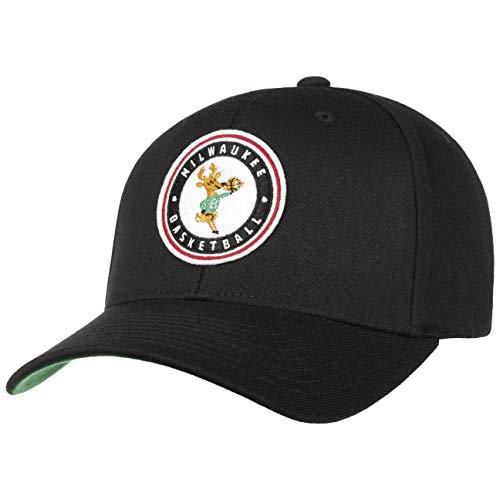 Mitchell & Ness Gorra Varsity Patch 110 Bucks& de Beisbol Baseball (Talla única - Negro)