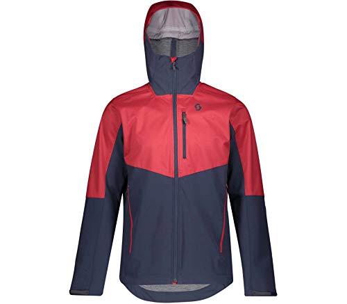 Scott M Explorair Ascent Jacket Colorblock-Blau-Rot, Herren Jacke, Größe L - Farbe Wine Red - Blue Nights