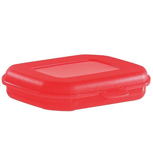 Westmark Brotdose/Snackbox, mit Klick-Verschluss, Höhe: ca. 3,7 cm, Kunststoff, Mini, Rot/Grün - farbig sortiert, 23512270