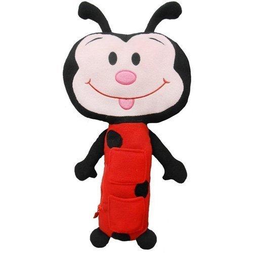 Ceinture de sécurité pour enfant en forme de peluche pour animal de compagnie Coussin Motif coccinelle