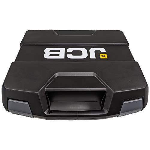 JCB Sortimo Large Tool Box - 13.1Ltrs, 1.5kg, Impact And Shock Resistant / Proof ABS Tough Plastic, Stackable, Click Connected, Empty, Lockable, Storage Case - For Power Tools, Accessories and Screws