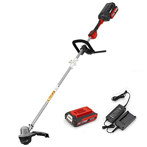 Buy Discount HENX 14-Inch Cordless String Trimmer 40V Max Lithium-ion, with 2.5 AH Battery, Foldable...
