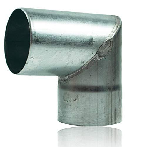 ZInk Winkelbogen 100 mm mit 87 Grad, Rohrwinkel mit Einsteckfase für einfache Montage, Rohrwinkelbogen für Titanzink Regenrohre in DN 100