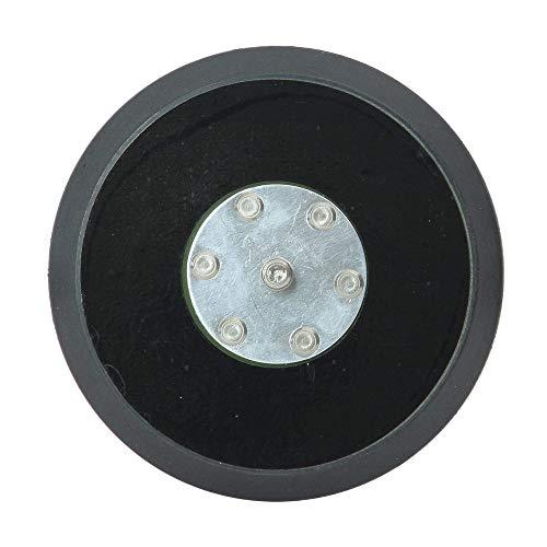 Dino KRAFTPAKET 640292 125mm-Stützteller-5/16-24 mit Klett Polierteller für Exzenter Poliermaschine 600W-8mm, 650W-9mm Hub, Schwarz