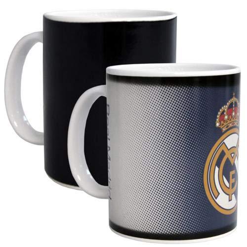 Real Madrid F.C. Tazza con cambio di calore, prodotto ufficiale GR