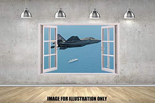 Fighter Jet Window Kampfjet-Fenster Kinder Jungen WandTattoo Mädchen Wandaufkleber Wandkunst Transfer Aufkleber 3 Größen