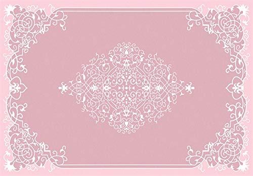 HJFGIRL Moderner Stil Teppiche Rosa Weiße Blume Design Sehr Strapazierfähiger Teppich - Für Wohnzimmer Teppich Flauschige Mädchen Teppich Zimmer Plüsch Noppenteppiche Und Teppiche,100 * 160cm