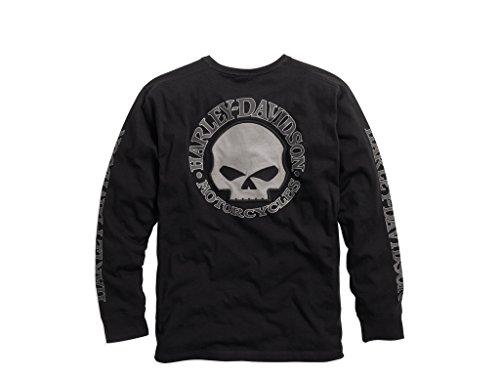 HARLEY-DAVIDSON Men's Skull Black Long Sleeve Tee, L