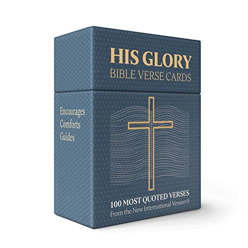HIS GLORY - Bible Verse Cards - 100 Prayer Cards of 100 Most Popular Bible Verses - Scripture Cards - A Prefect Christian Gifts for Women