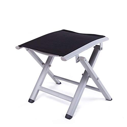 YLCJ Klapphocker, Hocker Aluminium Klapphocker ndash; Klappstuhl Geeignet für Camping, Garten, Terrasse oder Balkon (Farbe: Grau, Größe: 47,5 * 37,5 * 40 cm)