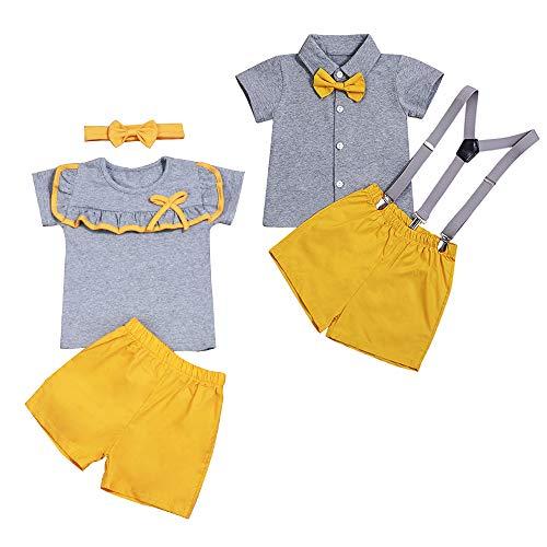 Babykleidung Kurzarm-Oberteile mit Shorts und Stirnband Passende Schwestern Outfits Säuglingssommer-Set
