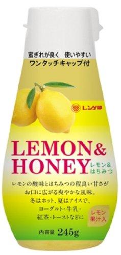 日本蜂蜜 レンゲ印 レモン&はちみつ ポリ 45g