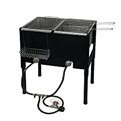 Honorable Mention for Best Outdoor Deep Fryer: Barton High-Pressure Freestanding Triple Basket Deep Fryer