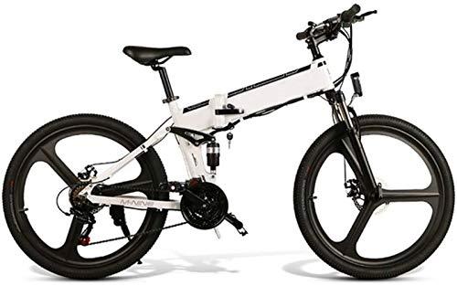 Bicicletas Eléctricas, Fuera de la carretera eléctrica bicicletas, 350w sin escobillas del motor de 26 pulgadas adultos Electric Mountain Bike 21 extraíble velocidad 48v batería Frenos de doble disco