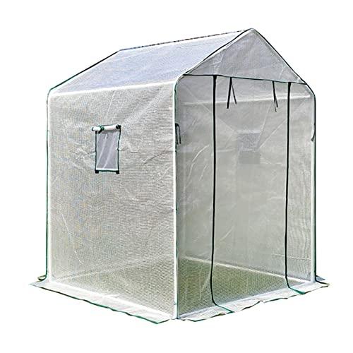 LIANGJUN Serra A Casetta Giardinaggio, 0.1mmPE Copertura Isolante, Mini Antipioggia Tenda per Piante Porta Arrotolabile con Cerniera, per Balcone All'aperto